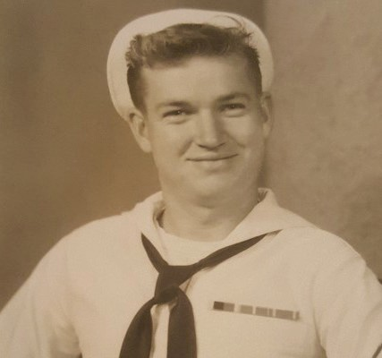 Above is a photo of Ken Lancaster when he was in the Navy during the Korean War. Below is Lancaster today.