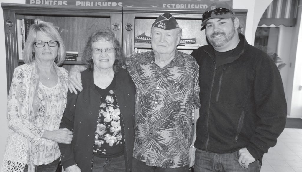 Shown from left are Patricia Hatcher, Evie Lancaster, Ken Lancaster and Brandon Hatcher. Photo by Nicole W. Little
