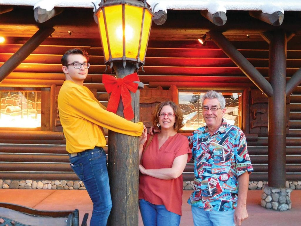 Shown from left are Price, Nicole and Greg Little. The Littles are the new owners of the Mariposa Gazette. Photo by Michelle Evans