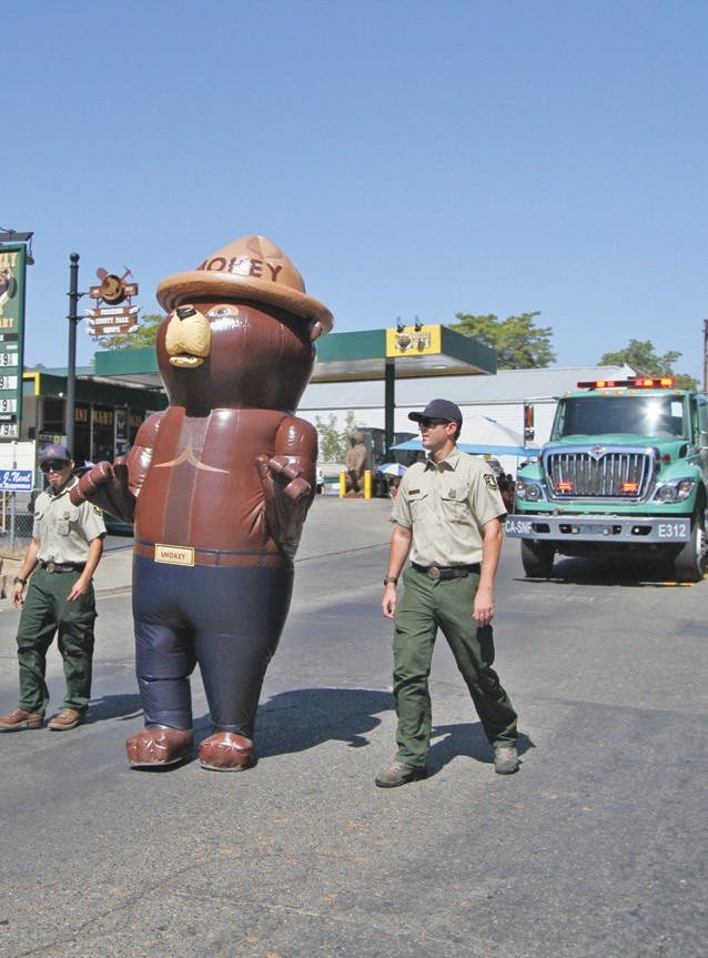 Smokey Bear is always a popular entry during the parade.