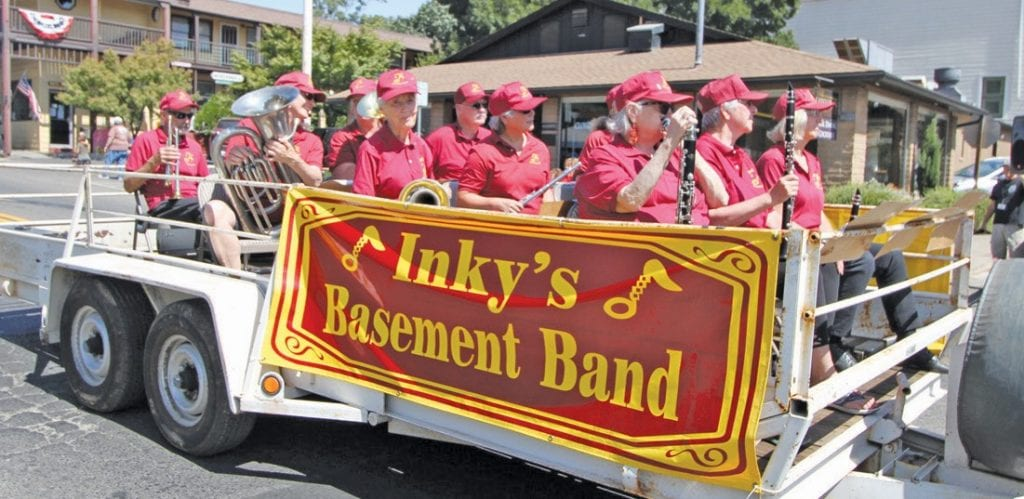 Inky's Basement Band was popular along the parade route, entertaining the parade goers with various music.