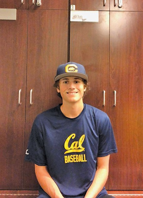 Blake Atkins, a 2018 graduate of Mariposa County High School, is now a member of the Cal Bears baseball team. He is shown at his locker. Submitted photo