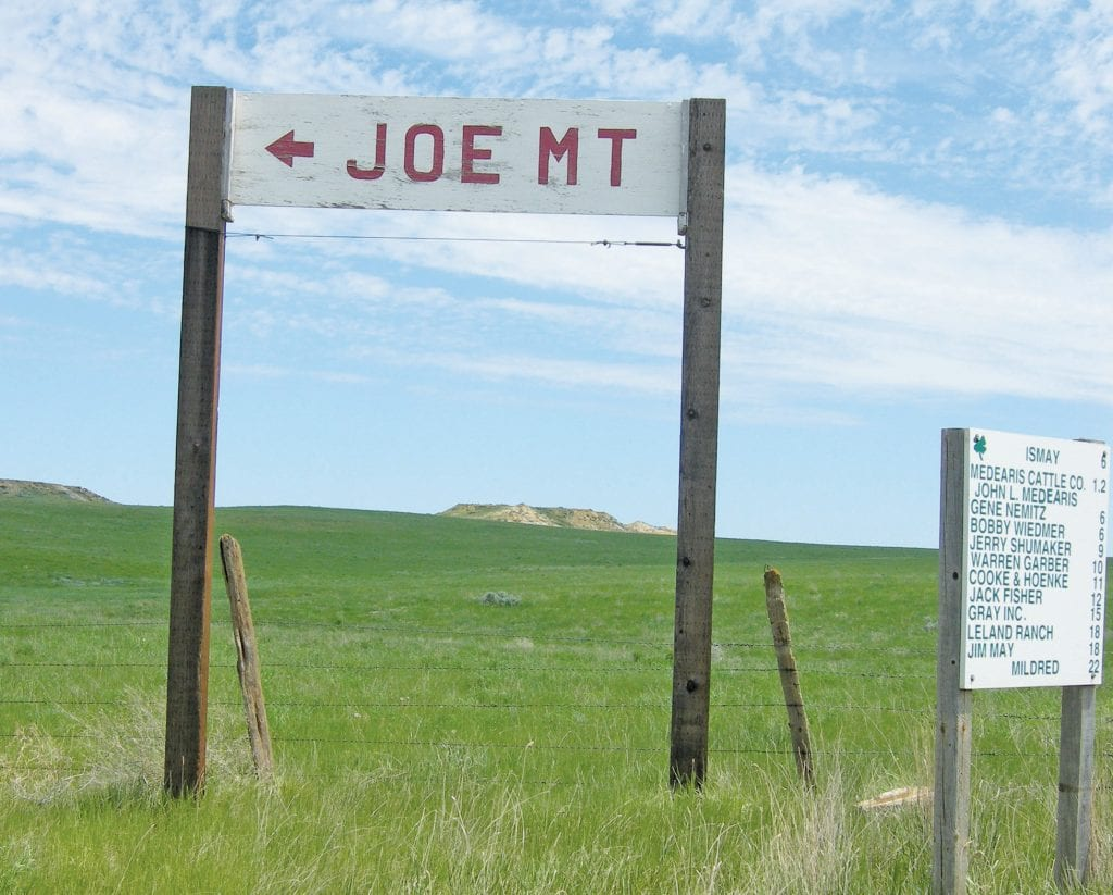 Shown is an old sign for Joe, Montana. The town of Ismay, Montana changed its name to match the name of tremendous quarterback Joe Montana years ago. Photo courtesy of Jimmy S Emerson, DVM
