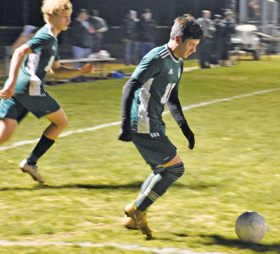 Ramiro Marquez (right) was one of the top male soccer players in the Southern League this season. Photo by Matt Johnson