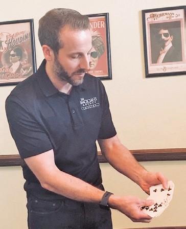 Magician Scott Pepper is shown.
