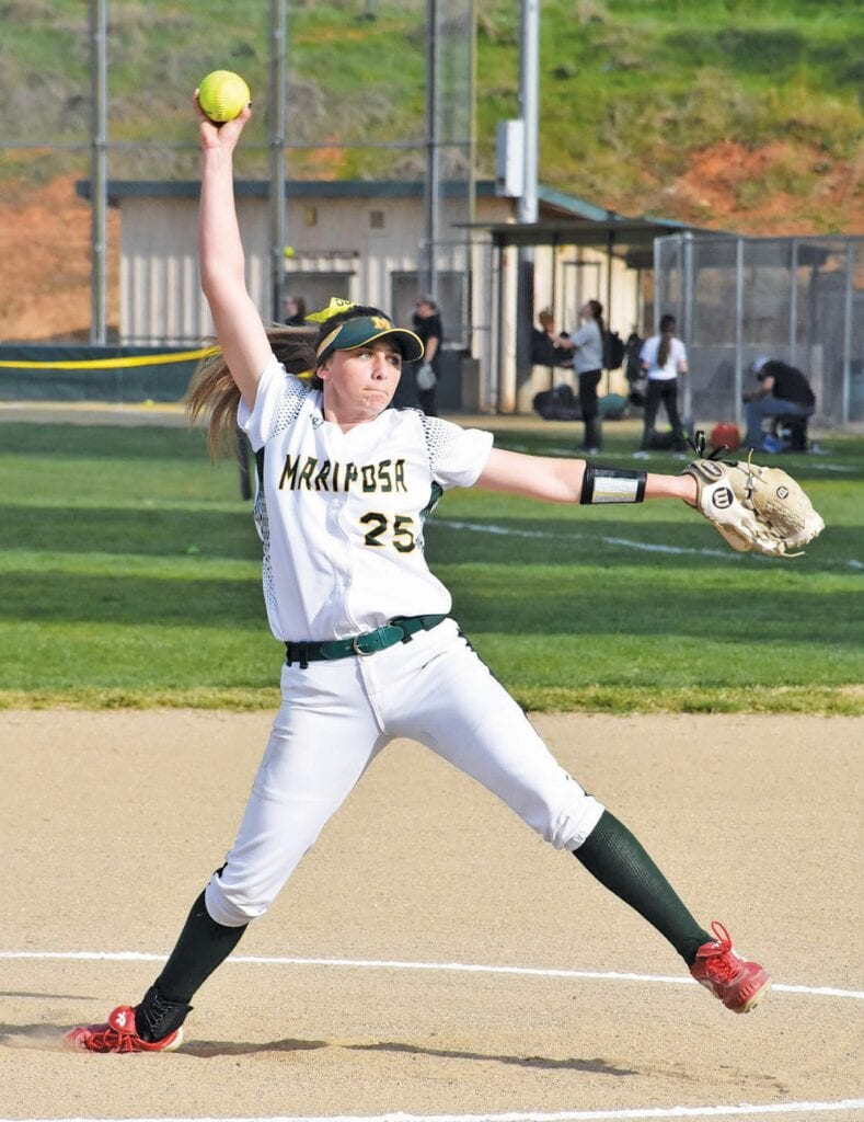 Brylei Pearson was a threat both on the mound and at the plate for the MCHS Grizzlies. She played varsity for all of her time in high school. Photo by Matt Johnson