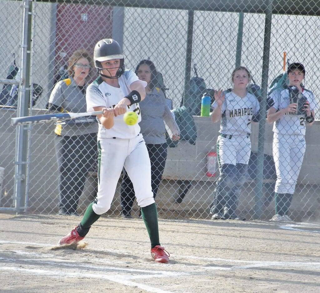 Brylei Pearson struck fear into opposing pitchers as a four-year member of the MCHS varsity team. Photo by Matt Johnson